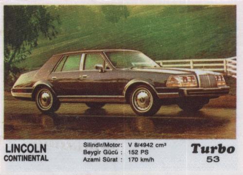 Турбо #53. Lincoln Continental.