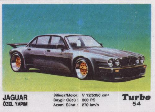 Турбо #54. Jaguar Özel Yapim. (Jaguar XJ-12 III ser.)