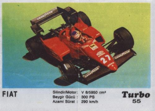 Турбо #55. FIAT. (Ferrari 126C4)