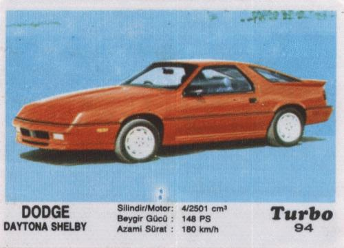 Inturbo #2. Dodge Daytona Shelby.