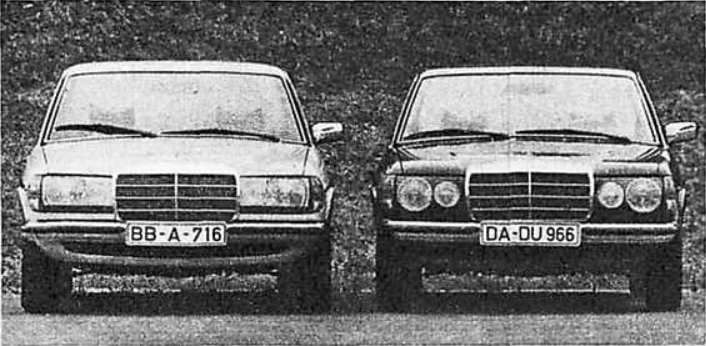 W123 models Technical Data