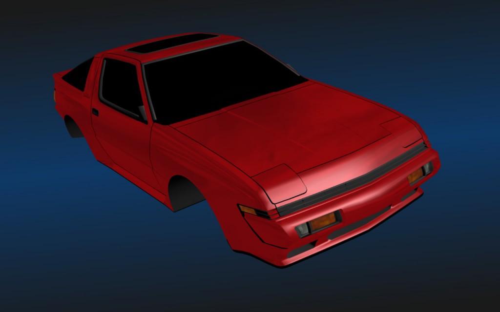 Финальный вид 3d модели Mitsubushi Starion