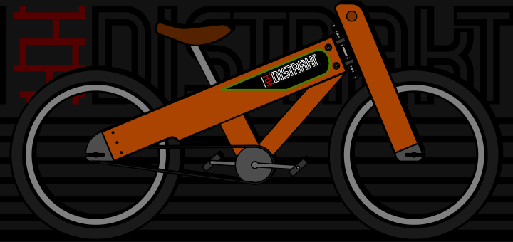 "Trying the new brand ""Distrakt bikes"""