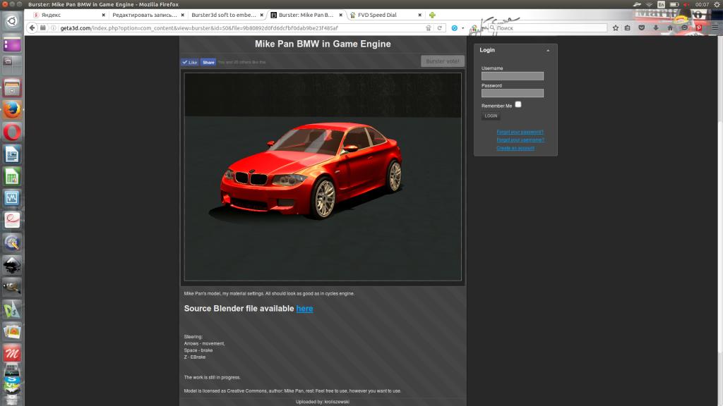 burster для интеграции bge-игр в сайт.
