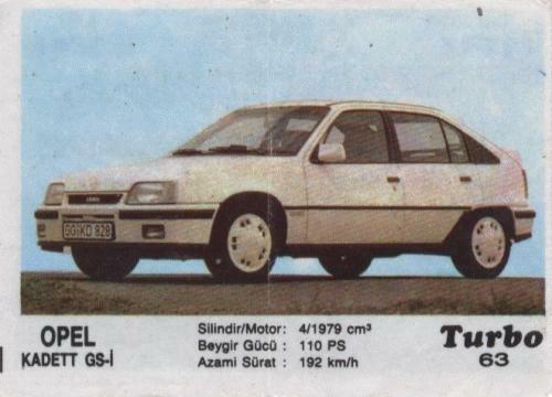 Турбо #63. Opel Kadett GS-i.