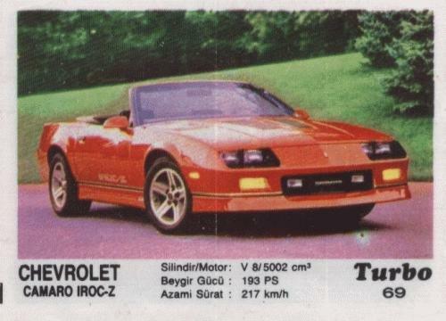 Турбо #69. Chevrolet Camaro IROC-Z