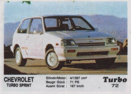 Турбо #72. Chevrolet Turbo Sprint.