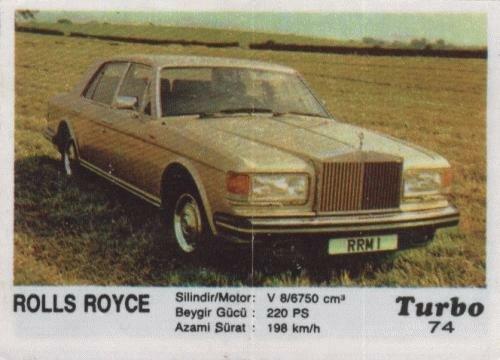 Турбо #74. Rolls Royce.