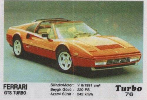 Турбо #76. Ferrari GTS Turbo.