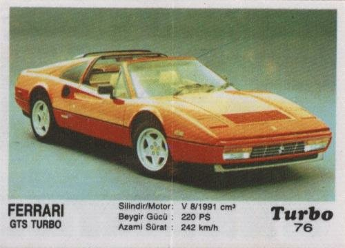 Турбо #76. Ferrari GTS Turbo.