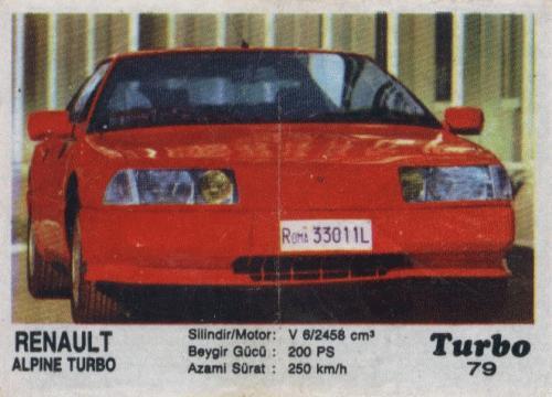 Турбо #79. Renault Alpine Turbo.