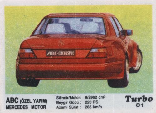 Turbo #81. ABC (Özel Yapim) Mercedes Motor
