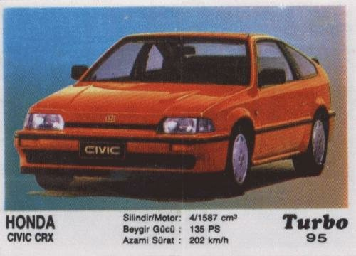 Турбо #95. Honda Civic CRX